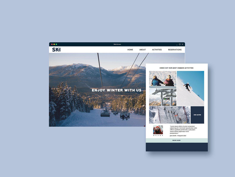 Business brochure mockup screens