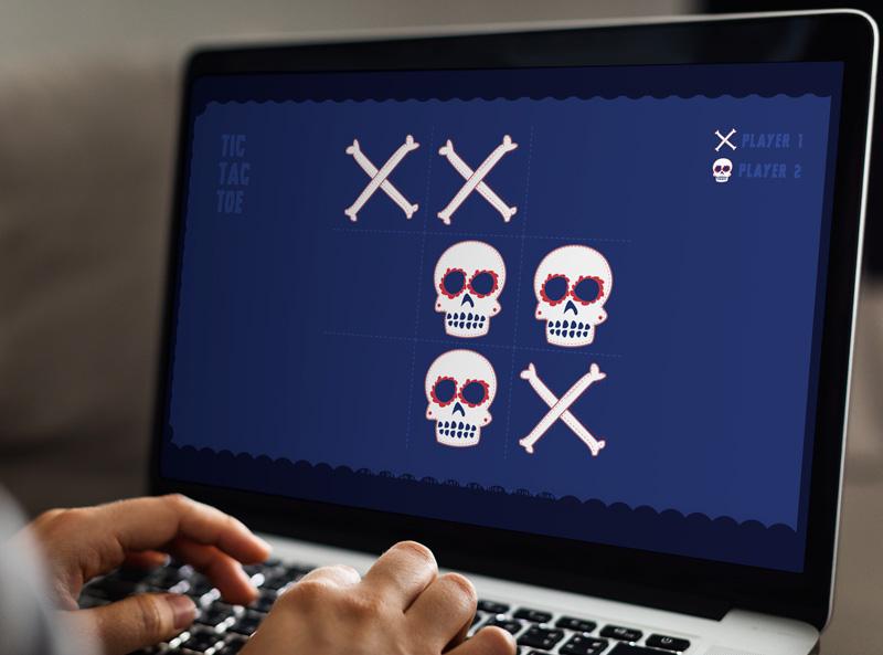 game mockup laptop