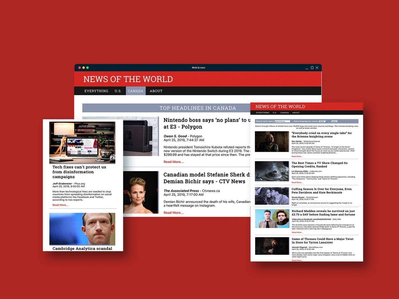 News mockup