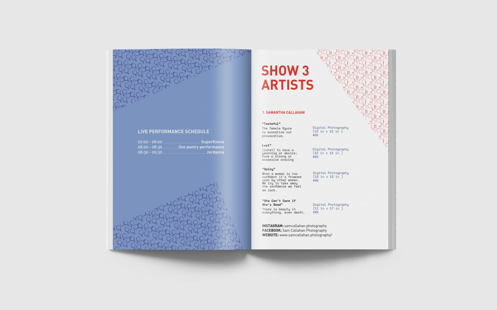 show program spread