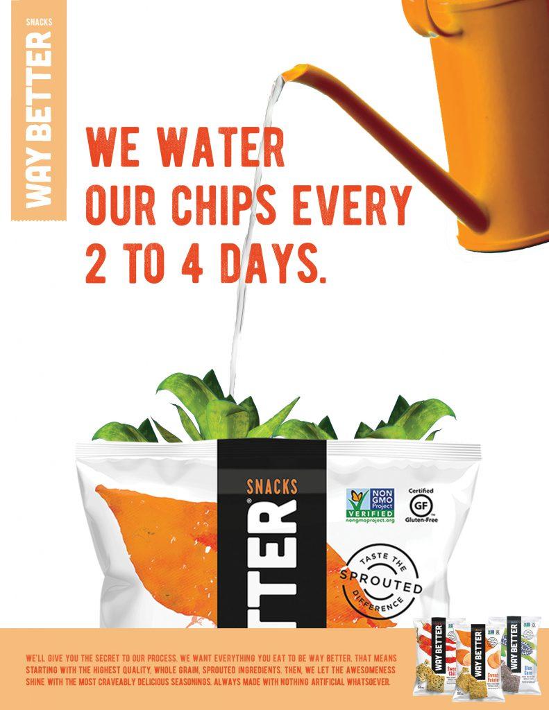Way Better Snacks print ad