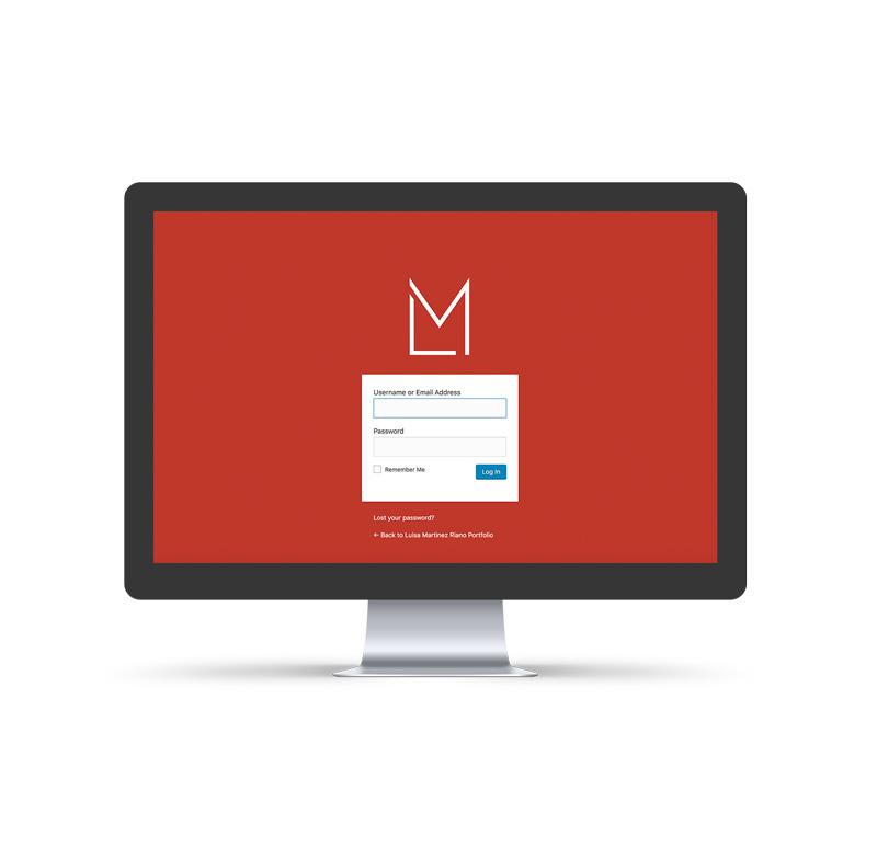 portfolio custom login page